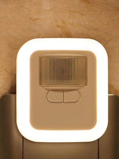 0.5W 220V 3000K Light Control Induction LED Night Light - WHITE US