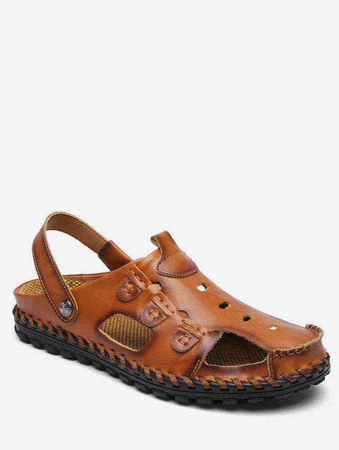 PU Leather Breathable Hiking Sandals - LIGHT BROWN EU 43