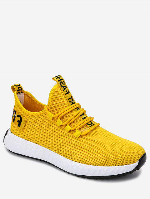 Letter Decor Outdoor Sneakers - YELLOW EU 44