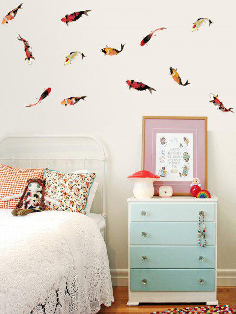 Fishes Print Wall Art Stickers - multicolor