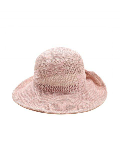 Hollowed Out Flower Pattern Sun Hat - PINK