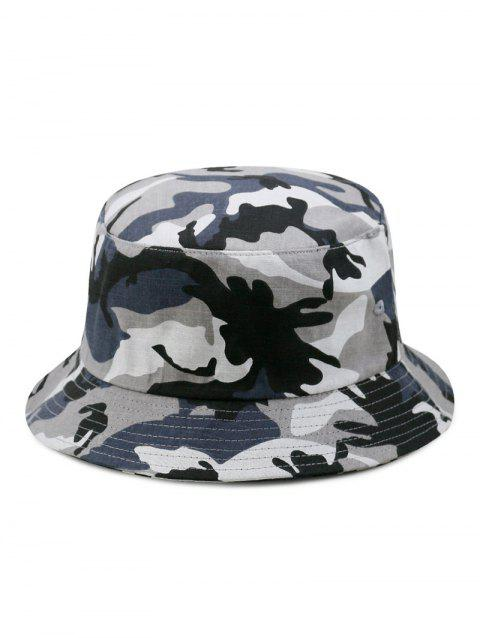 Camouflage Print Bucket Hat - GRAY