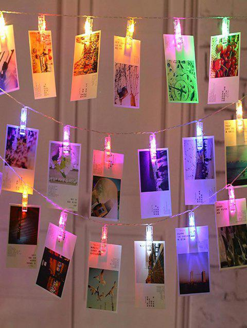 LED DIY Photo Clip String Lights - TRANSPARENT 4 METER MULTICOLOR