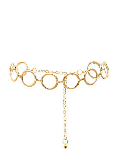 Round Ring Decoration Waist Chain - GOLD