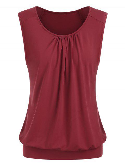 Ruched Plus Size Top - RED WINE 5X