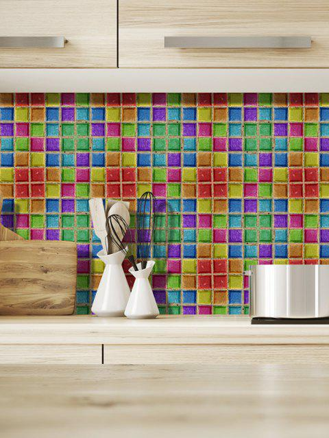 19PCS Mosaic Pattern Design Wall Stickers - multicolor