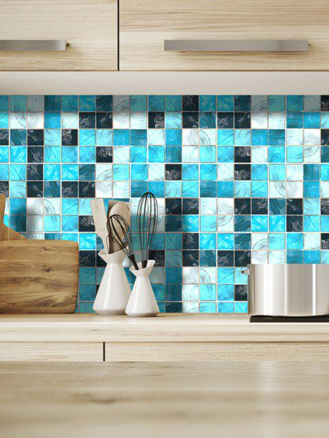 19PCS Mosaic Color Block Pattern Wall Stickers - multicolor