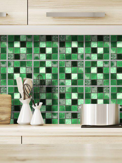 19PCS Casual Mosaic Pattern Wall Stickers - multicolor