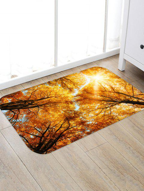 Pattern Sunlight Forest Home Decor Rug - GOLDEN BROWN W20 X L31.5 INCH