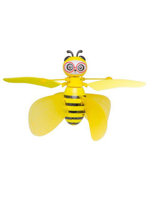 Little Bee Induction Aircraft Intelligent Suspension Remote Control Aircraft - YELLOW