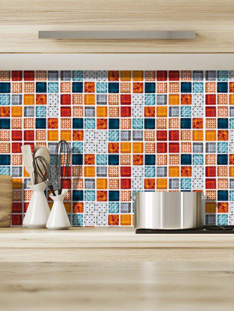 19PCS Mosaic Printed Wall Stickers - multicolor