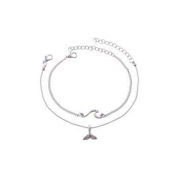 Two-piece Fishtail Chain Anklet