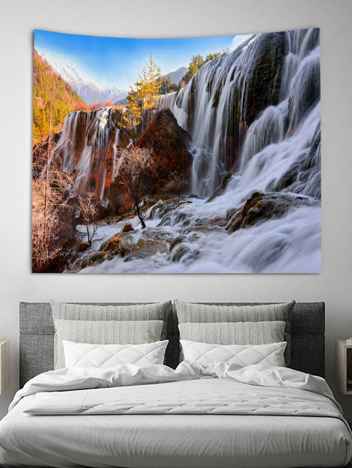 Waterfall Rock 3D Print Wall Tapestry - multicolor A W59 X L79 INCH
