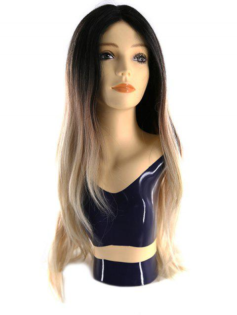 Synthetic Center Parting Body Wave Wig with Lace Front - NEBULA 27INCH