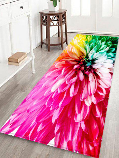 Colorful Flower Pattern Water Absorption Area Rug - BEIGE W16 X L47 INCH