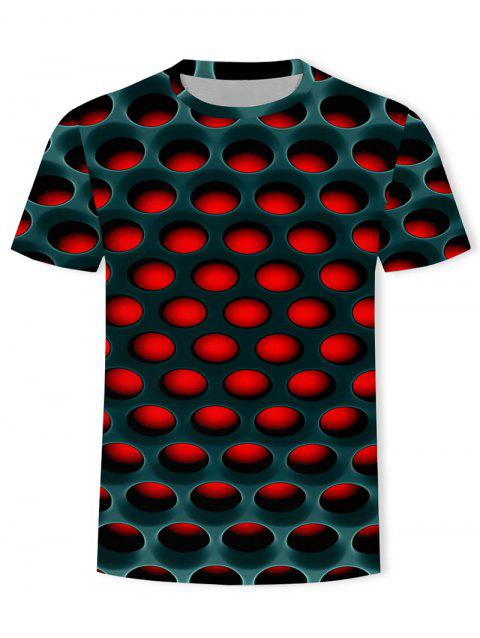 Burning Honeycomb Briquette Graphic Tee - RED 2XL
