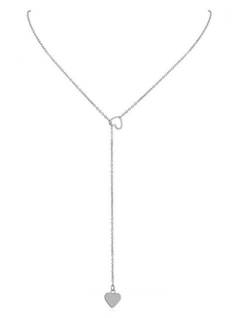 Hollow Heart Shape Lariat Necklace