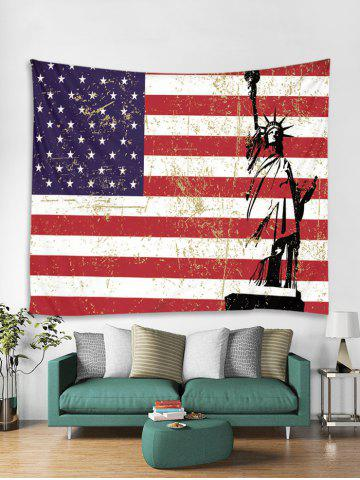 American Flag Statue Of Liberty Art Decoration Tapestry