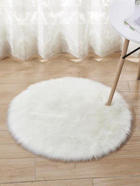 Round Design Floor Mat - WHITE