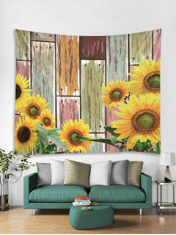 8b45db2f52 Sunflower Wood Grain 3D Print Wall Tapestry