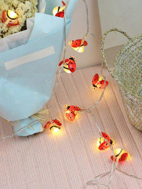 2M 20LED Ladybug Indoor Decoration Lamp String - WARM WHITE