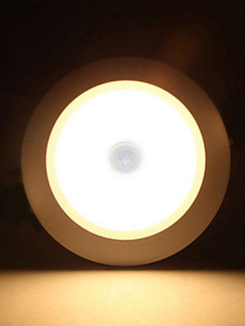 5W Human Body Induction Light Control Ceiling Downlight - WARM WHITE