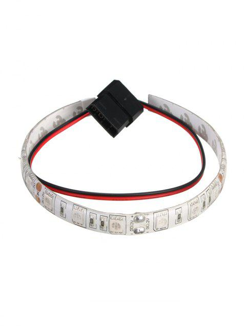 Rétroéclairage d'interface d'ordinateur étanche à 0,5 M DC12V - Blanc 4RED+1BLUE LIGHT