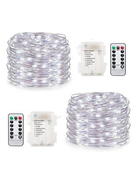 2 Pcs 10 Meters 6W Waterproof String Lights - TRANSPARENT COLD WHITE