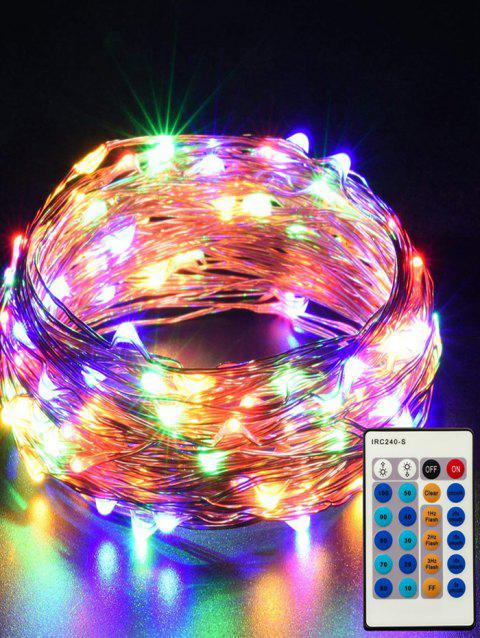 24 Button Controller 1A Dimmable With IR 10M Light String - TRANSPARENT MULTICOLOR LIGHT