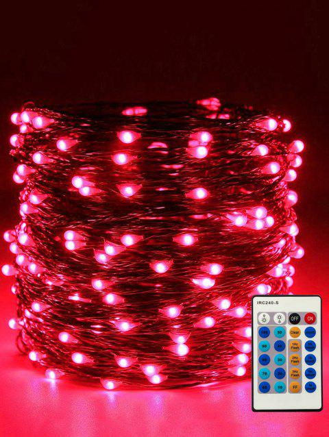 24 Button Controller 1A Dimmable With IR 10M Light String - TRANSPARENT RED LIGHT
