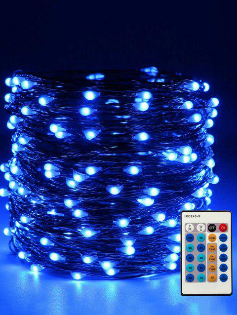 24 Button Controller 1A Dimmable With IR 10M Light String - TRANSPARENT BLUE LIGHT