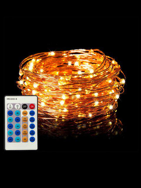 24 Button Controller 1A Dimmable With IR 10M Light String - TRANSPARENT WARM WHITE LIGHT