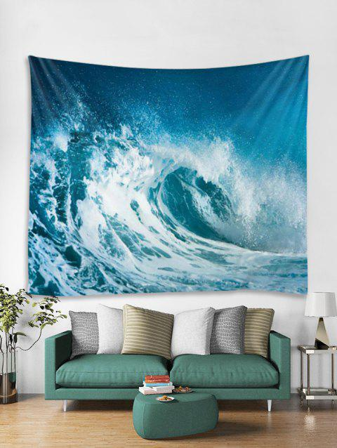 Sea Wave 3D Printed Wall Tapestry - multicolor A W59 X L51 INCH