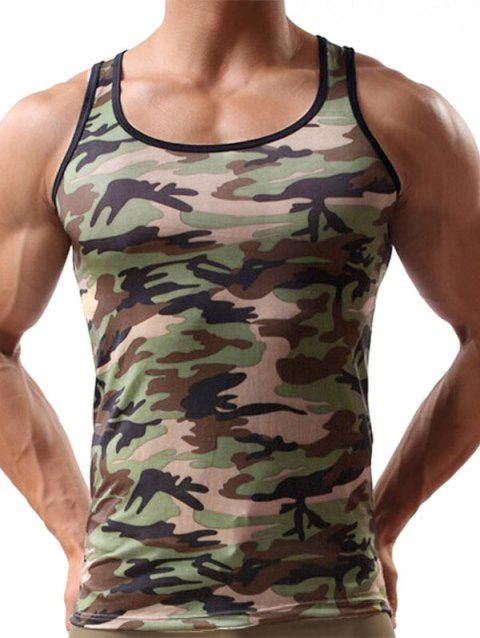 Camouflage Print Casual Tank Top - ACU CAMOUFLAGE 2XL