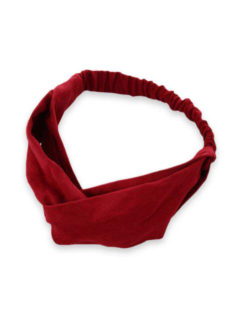 Solid Color Design Elastic Headband - RED WINE