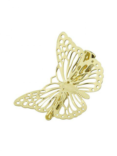 Alloy Hollow Butterfly Hairgrip - GOLD