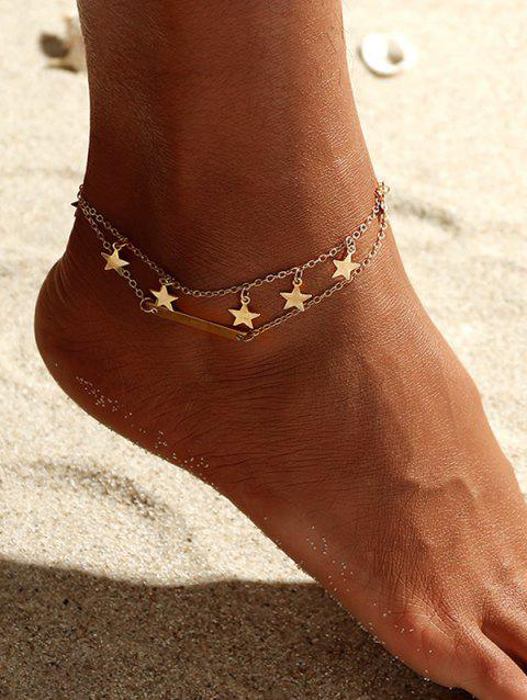 Star Double Layered Anklet - GOLD