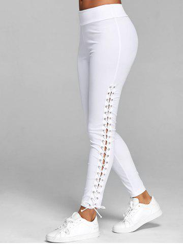 d220291ffe Lace Up Elastic Waist Leggings