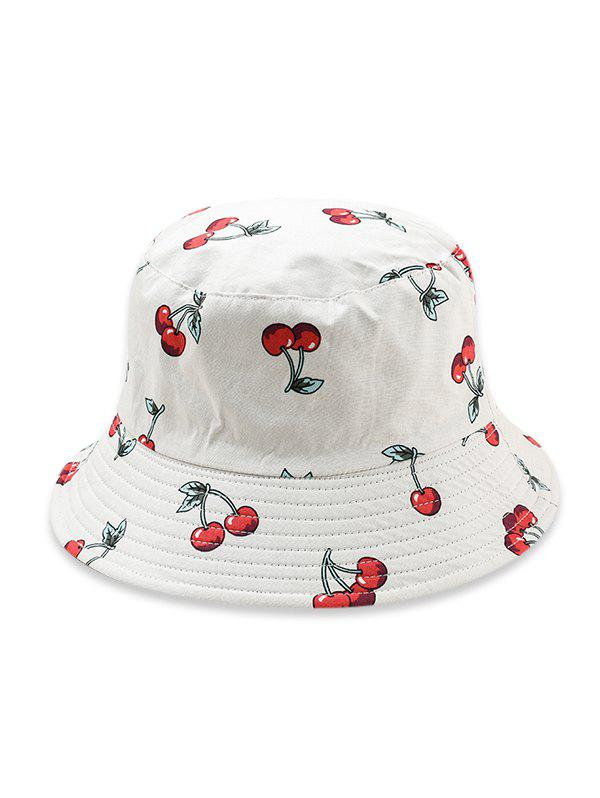 Fruit Pattern Bucket Hat - WHITE