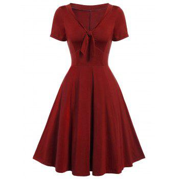 Vintage Bow Tie Pin Up Dress