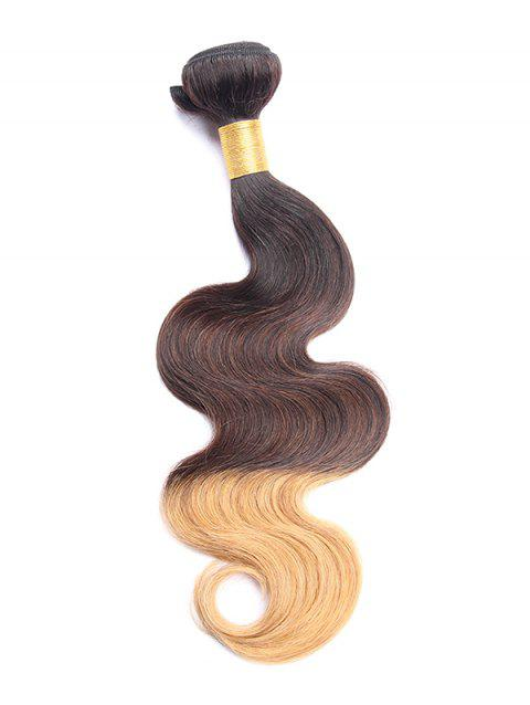 Ombre Body Wave Human Hair Weft - multicolor B 16INCH