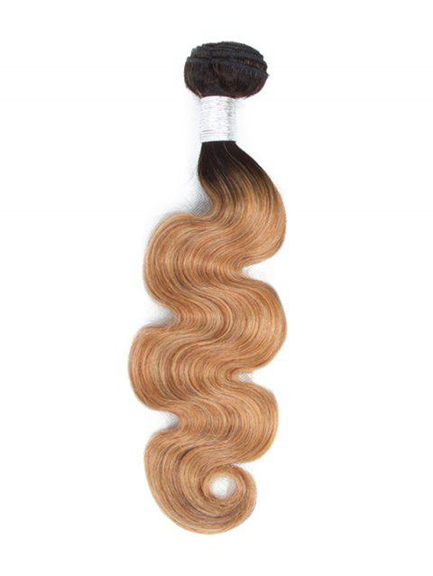 Body Wave Ombre Human Hair Weft - multicolor B 22INCH