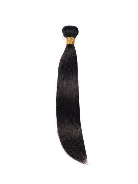 Natural Straight Solid Human Hair Weft - BLACK 20INCH