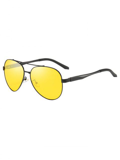 Polarized Metal Frame Simple Sunglasses - GOLD
