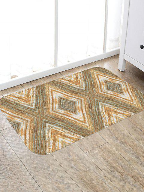 Rhombus Marbling Print Floor Rug - ANTIQUE WHITE W20 X L31.5 INCH
