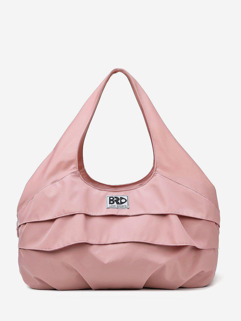 Flouncing Decoration Casual Tote Bag - LIGHT PINK