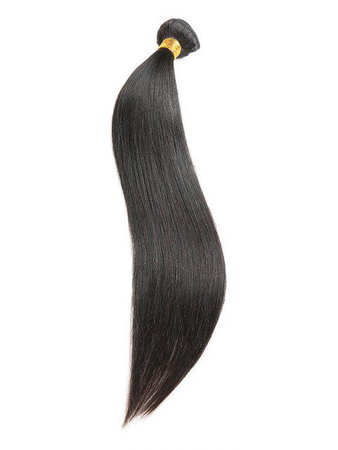 Natural Straight Human Hair Weft - NATURAL BLACK 26INCH