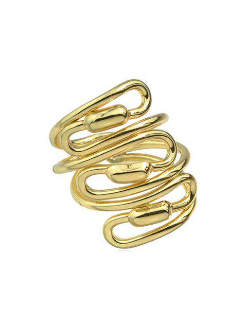 Personality Spiral Wide Ring - GOLD