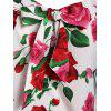 Plus Size Rose Print Cami Tunic Tank Top - COOL WHITE 5X
