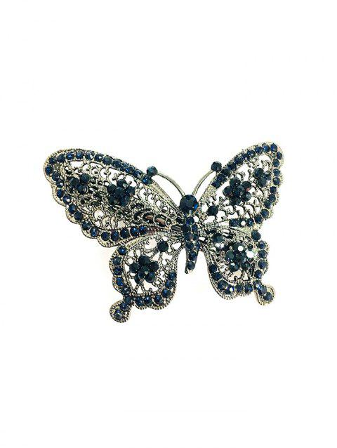 Butterfly Design Rhinestone Decoration Hairpin - COBALT BLUE